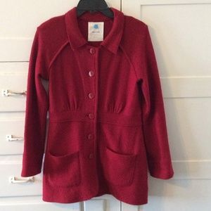 Sparrow for Anthropologie Red Sweater Coat, Sz M